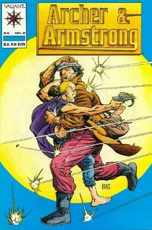 Cover of Archer & Armstrong (Vol 1) #0. One of 250,000 Vintage American Comics on sale from Krypton!