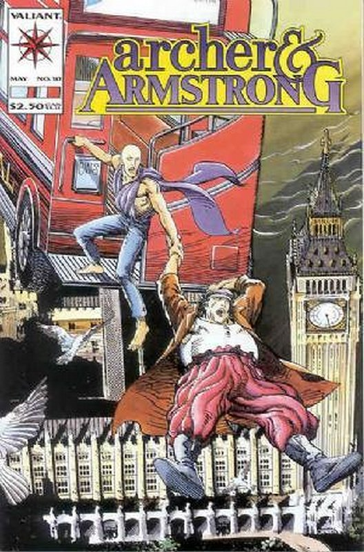 Cover of Archer & Armstrong (Vol 1) #10. One of 250,000 Vintage American Comics on sale from Krypton!