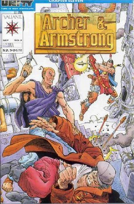 Cover of Archer & Armstrong (Vol 1) #2. One of 250,000 Vintage American Comics on sale from Krypton!