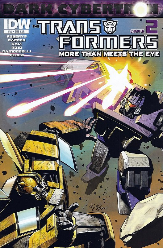 Cover of Transformers: More Than Meets the Eye #23. One of 250,000 Vintage American Comics on sale from Krypton!