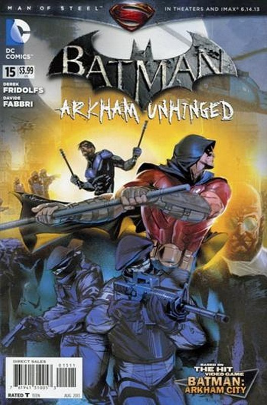 Cover of Batman: Arkham Unhinged (Vol 1) #15. One of 250,000 Vintage American Comics on sale from Krypton!