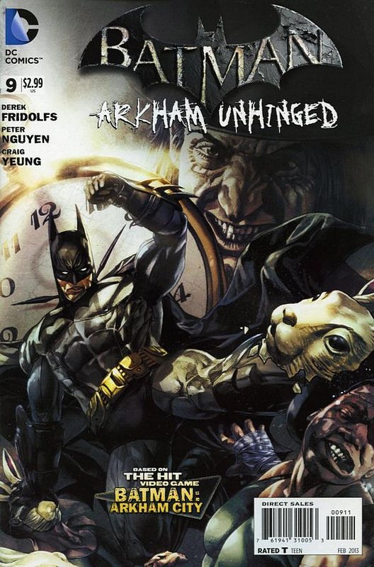 Cover of Batman: Arkham Unhinged (Vol 1) #9. One of 250,000 Vintage American Comics on sale from Krypton!