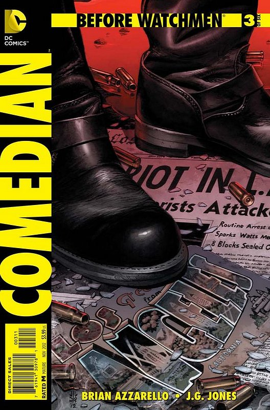 Cover of Before Watchmen: Comedian (2012 Ltd) #3. One of 250,000 Vintage American Comics on sale from Krypton!
