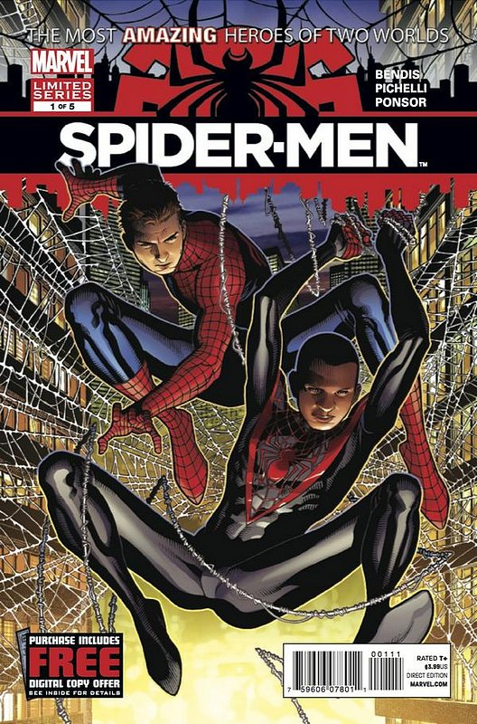 Cover of Spider-Men (2012 Ltd) #1. One of 250,000 Vintage American Comics on sale from Krypton!