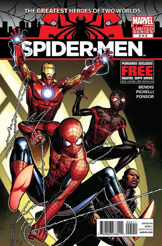 Cover of Spider-Men (2012 Ltd) #5. One of 250,000 Vintage American Comics on sale from Krypton!