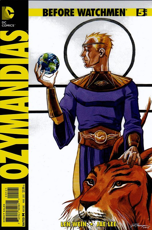 Cover of Before Watchmen: Ozymandias (2012 Ltd) #5. One of 250,000 Vintage American Comics on sale from Krypton!