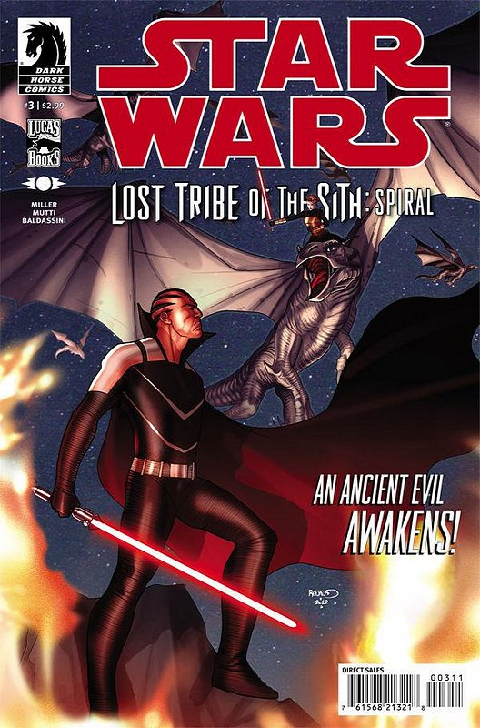 Cover of Star Wars: Lost Tribe of the Sith: Spiral (Ltd) #3. One of 250,000 Vintage American Comics on sale from Krypton!