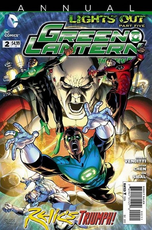 Cover of Green Lantern Annual (2012) #2. One of 250,000 Vintage American Comics on sale from Krypton!