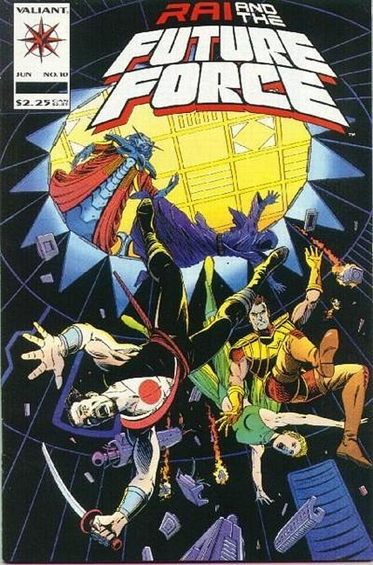 Cover of Rai & The Future Force (Vol 1) #10. One of 250,000 Vintage American Comics on sale from Krypton!