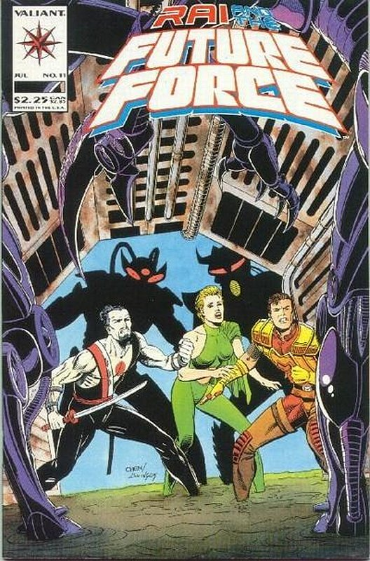 Cover of Rai & The Future Force (Vol 1) #11. One of 250,000 Vintage American Comics on sale from Krypton!