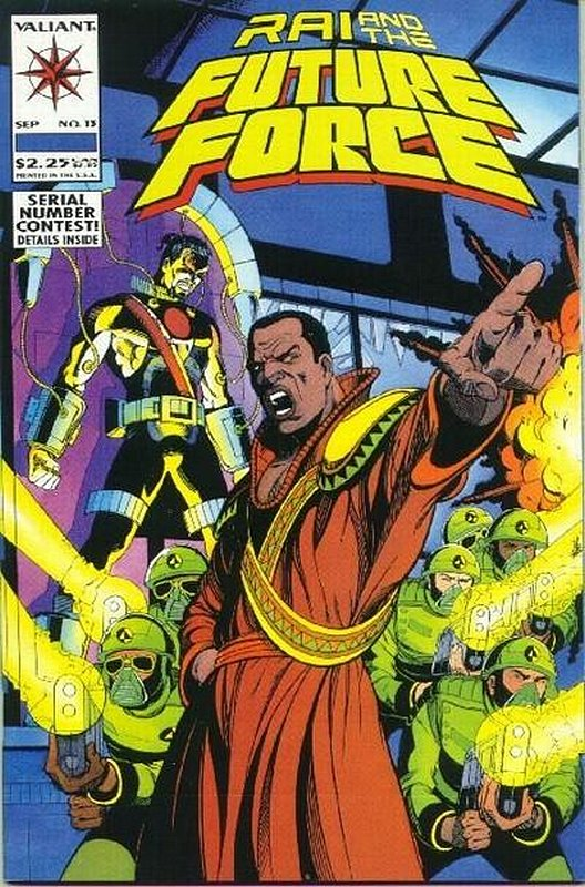 Cover of Rai & The Future Force (Vol 1) #13. One of 250,000 Vintage American Comics on sale from Krypton!