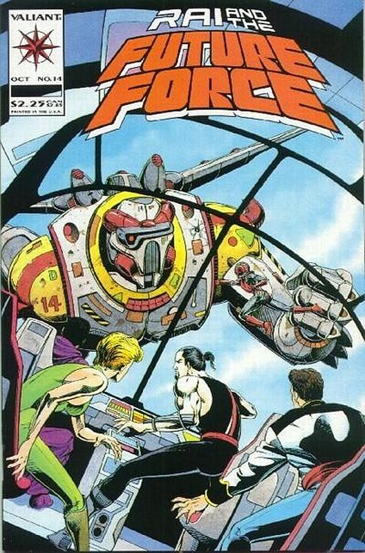 Cover of Rai & The Future Force (Vol 1) #14. One of 250,000 Vintage American Comics on sale from Krypton!