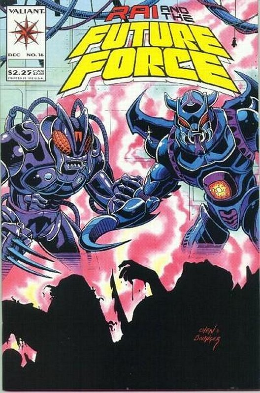 Cover of Rai & The Future Force (Vol 1) #16. One of 250,000 Vintage American Comics on sale from Krypton!