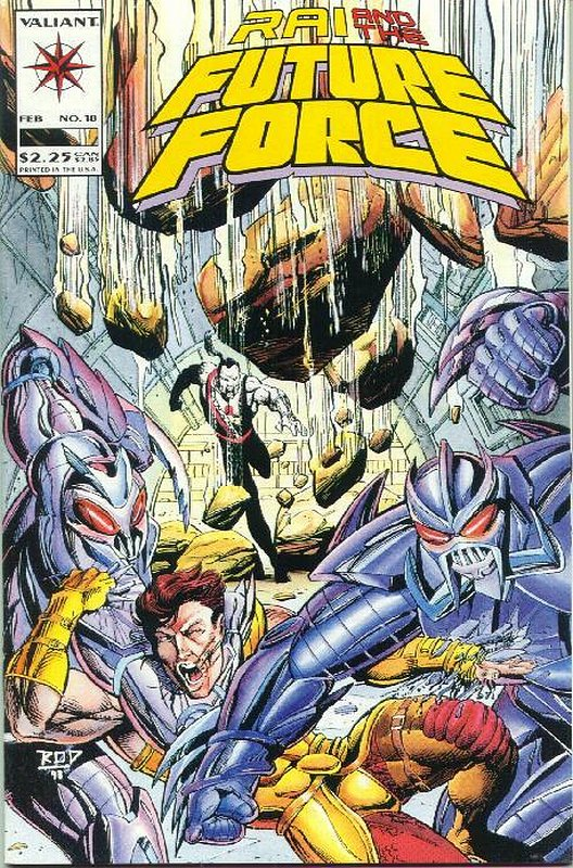 Cover of Rai & The Future Force (Vol 1) #18. One of 250,000 Vintage American Comics on sale from Krypton!