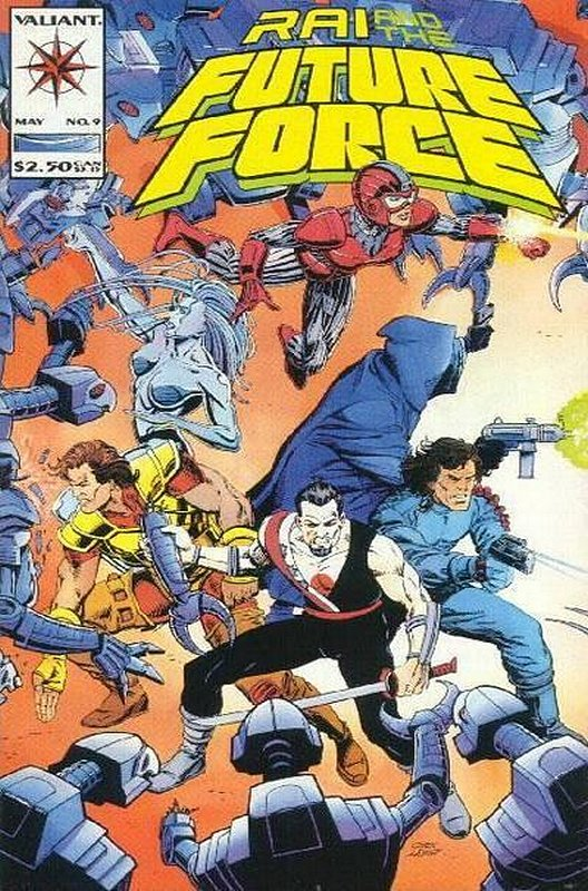 Cover of Rai & The Future Force (Vol 1) #9. One of 250,000 Vintage American Comics on sale from Krypton!