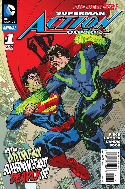 Cover of Action Comics Annual (2012) #1. One of 250,000 Vintage American Comics on sale from Krypton!