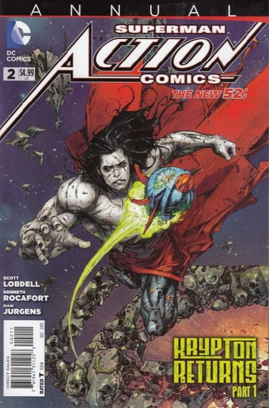 Cover of Action Comics Annual (2012) #2. One of 250,000 Vintage American Comics on sale from Krypton!