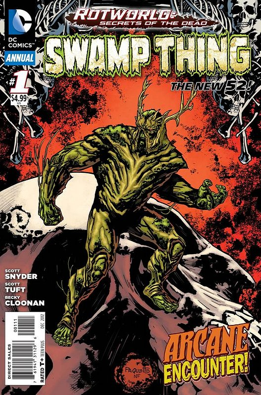 Cover of Swamp Thing Annual (2012) #1. One of 250,000 Vintage American Comics on sale from Krypton!