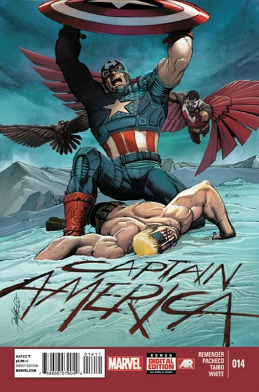 Cover of Captain America (Vol 7) #14. One of 250,000 Vintage American Comics on sale from Krypton!
