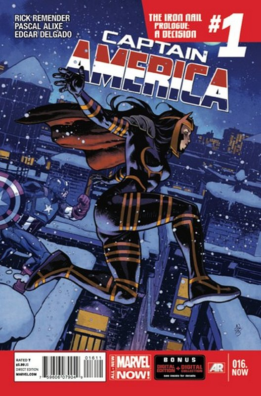 Cover of Captain America (Vol 7) #16. One of 250,000 Vintage American Comics on sale from Krypton!