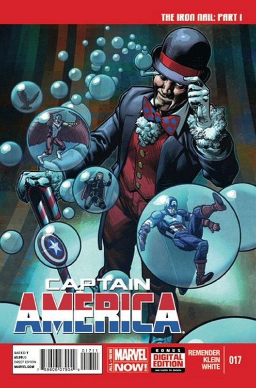 Cover of Captain America (Vol 7) #17. One of 250,000 Vintage American Comics on sale from Krypton!