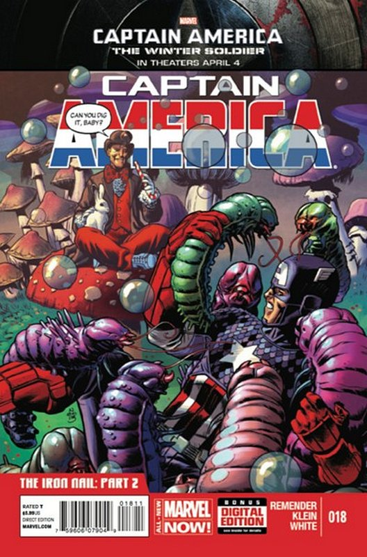 Cover of Captain America (Vol 7) #18. One of 250,000 Vintage American Comics on sale from Krypton!