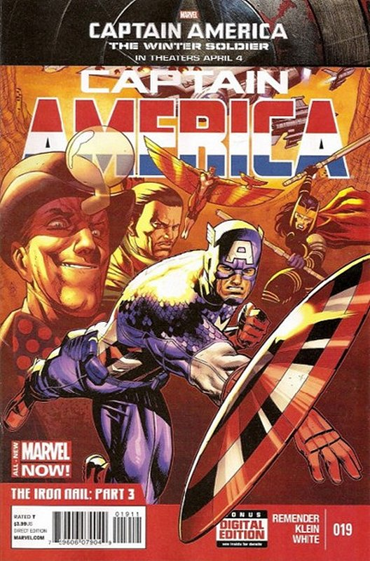 Cover of Captain America (Vol 7) #19. One of 250,000 Vintage American Comics on sale from Krypton!
