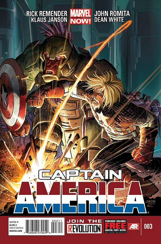Cover of Captain America (Vol 7) #3. One of 250,000 Vintage American Comics on sale from Krypton!