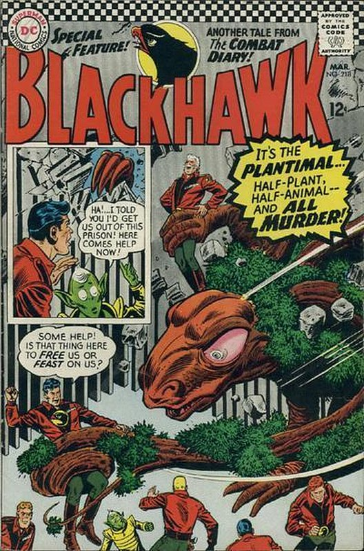 Cover of Blackhawk (Vol 1) #218. One of 250,000 Vintage American Comics on sale from Krypton!