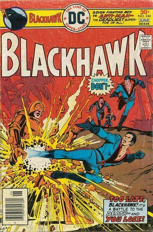 Cover of Blackhawk (Vol 1) #246. One of 250,000 Vintage American Comics on sale from Krypton!
