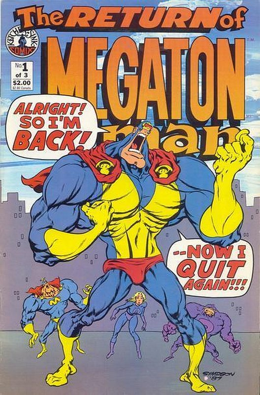 Cover of Return of Megaton Man (1988 Ltd) #1. One of 250,000 Vintage American Comics on sale from Krypton!