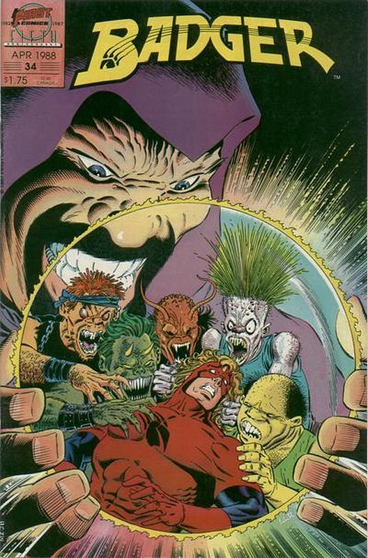 Cover of Badger (Vol 2) (First) #34. One of 250,000 Vintage American Comics on sale from Krypton!