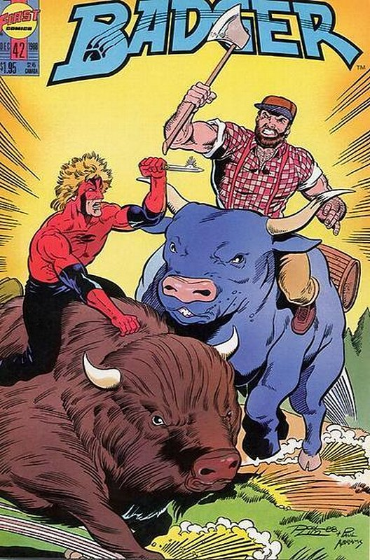 Cover of Badger (Vol 2) (First) #42. One of 250,000 Vintage American Comics on sale from Krypton!