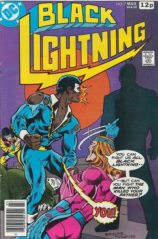 Cover of Black Lightning (Vol 1) #7. One of 250,000 Vintage American Comics on sale from Krypton!