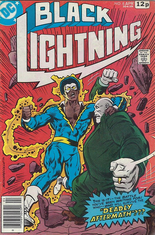 Cover of Black Lightning (Vol 1) #8. One of 250,000 Vintage American Comics on sale from Krypton!