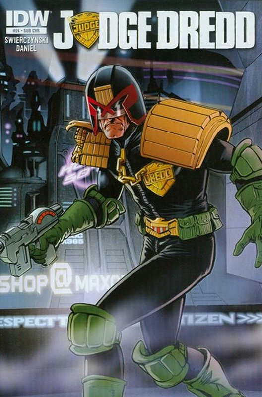 Cover of Judge Dredd (IDW) (Vol 1) #24. One of 250,000 Vintage American Comics on sale from Krypton!