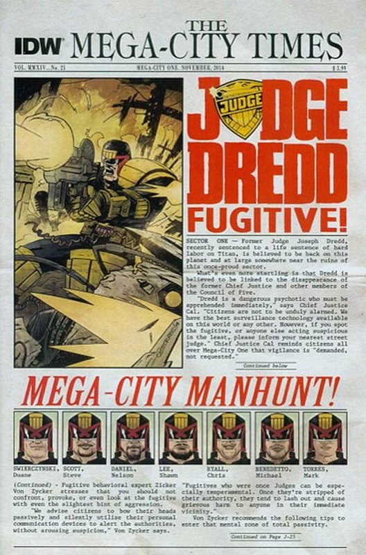 Cover of Judge Dredd (IDW) (Vol 1) #25. One of 250,000 Vintage American Comics on sale from Krypton!