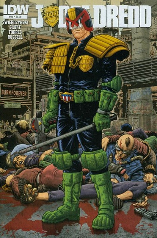 Cover of Judge Dredd (IDW) (Vol 1) #26. One of 250,000 Vintage American Comics on sale from Krypton!
