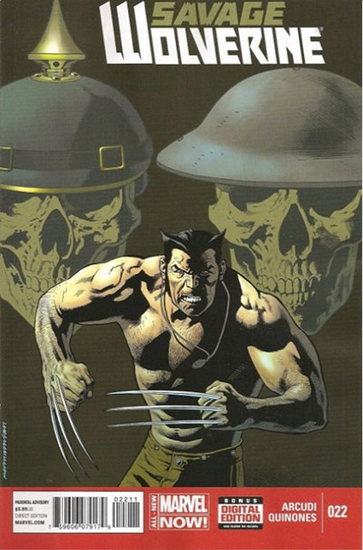 Cover of Savage Wolverine (Vol 1) #22. One of 250,000 Vintage American Comics on sale from Krypton!