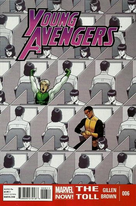 Cover of Young Avengers (Vol 2) #6. One of 250,000 Vintage American Comics on sale from Krypton!