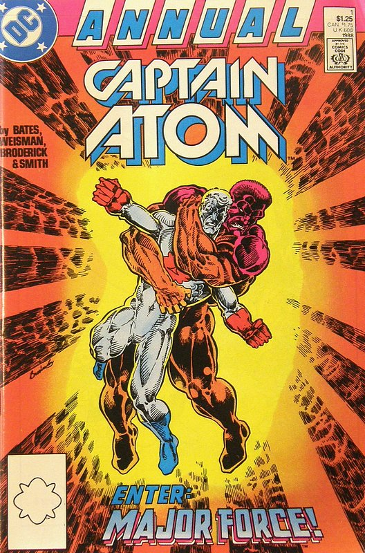 Cover of Captain Atom Annual #1. One of 250,000 Vintage American Comics on sale from Krypton!