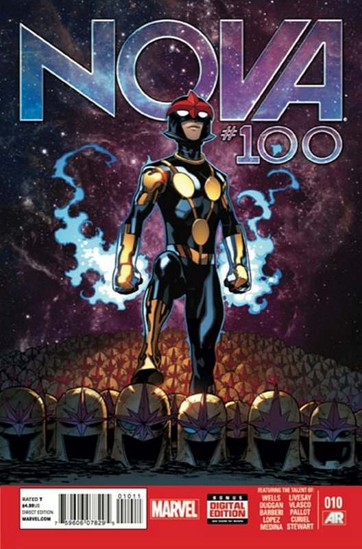 Cover of Nova (Vol 5) #10. One of 250,000 Vintage American Comics on sale from Krypton!