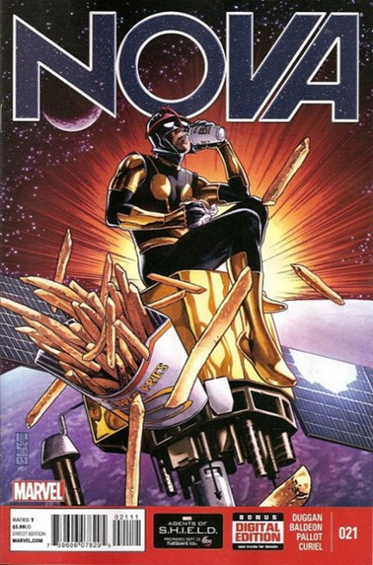 Cover of Nova (Vol 5) #21. One of 250,000 Vintage American Comics on sale from Krypton!
