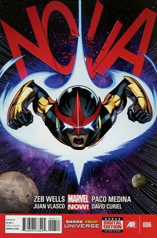 Cover of Nova (Vol 5) #6. One of 250,000 Vintage American Comics on sale from Krypton!