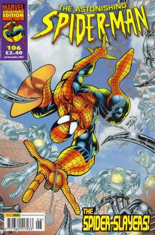 Cover of Astonishing Spider-Man (Vol 1) (UK) #106. One of 250,000 Vintage American Comics on sale from Krypton!