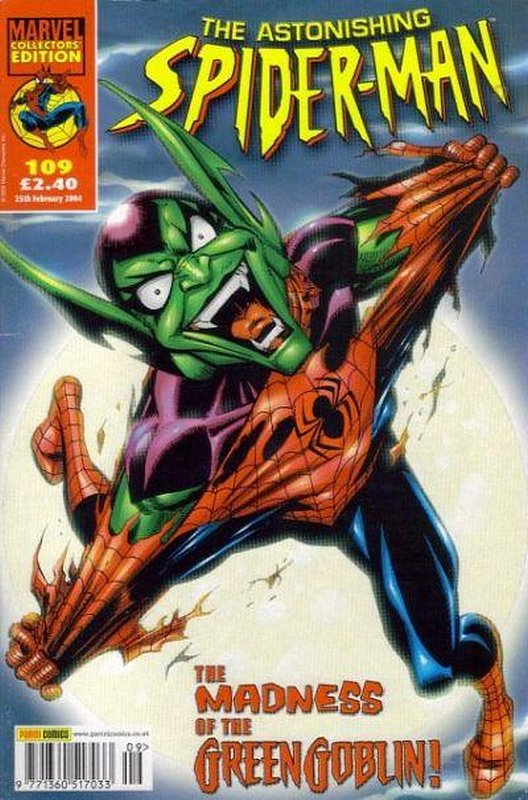 Cover of Astonishing Spider-Man (Vol 1) (UK) #109. One of 250,000 Vintage American Comics on sale from Krypton!