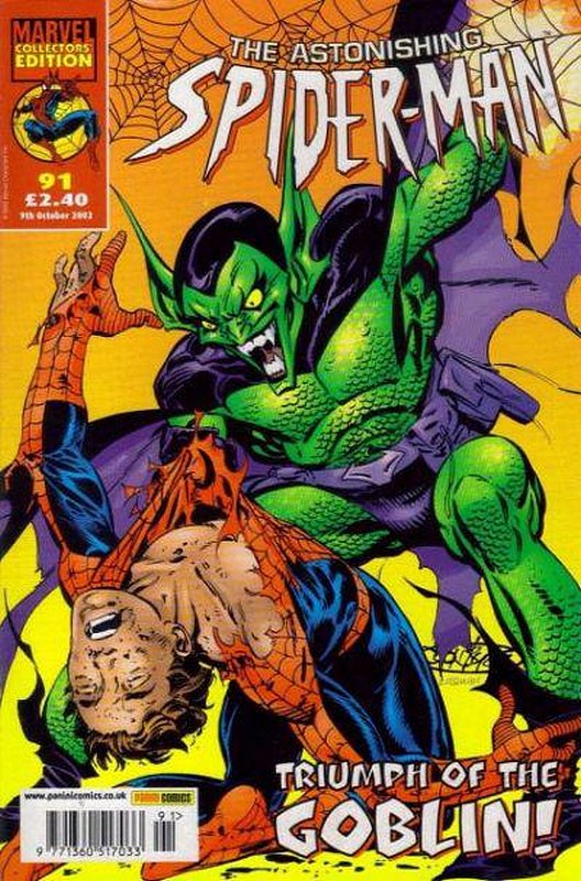 Cover of Astonishing Spider-Man (Vol 1) (UK) #91. One of 250,000 Vintage American Comics on sale from Krypton!