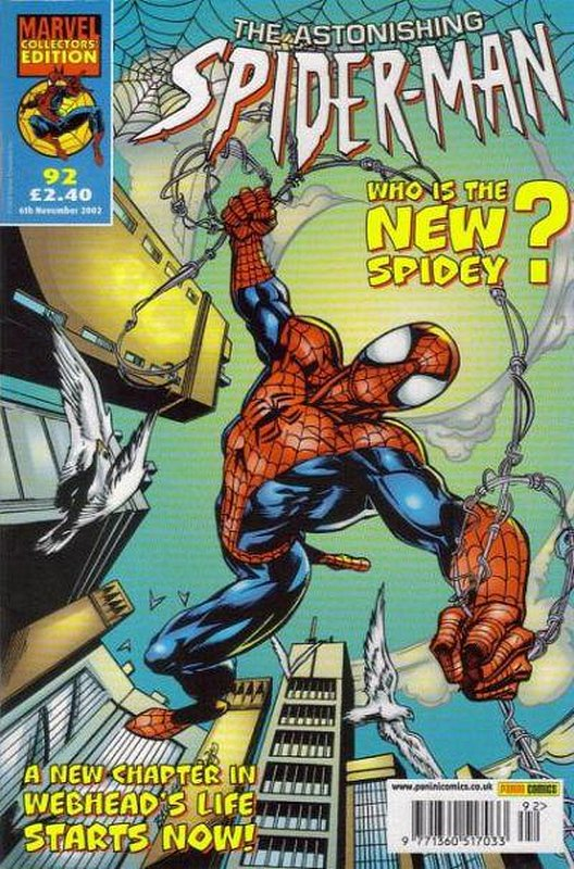 Cover of Astonishing Spider-Man (Vol 1) (UK) #92. One of 250,000 Vintage American Comics on sale from Krypton!