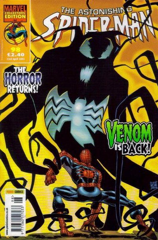 Cover of Astonishing Spider-Man (Vol 1) (UK) #98. One of 250,000 Vintage American Comics on sale from Krypton!