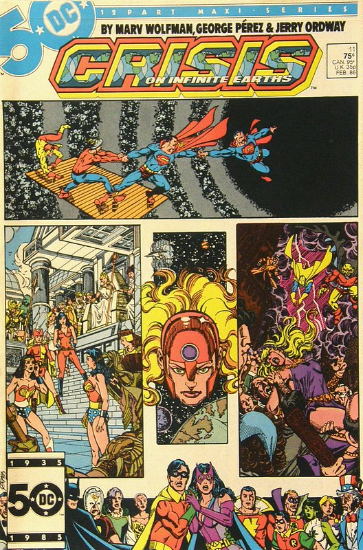 Cover of Crisis on Infinite Earths (1985 Ltd) #11. One of 250,000 Vintage American Comics on sale from Krypton!